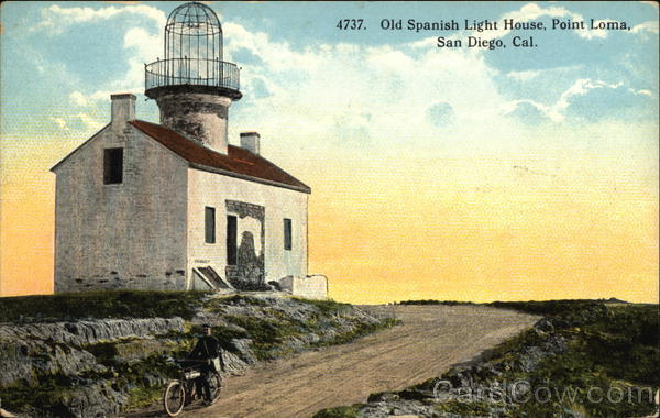 Old Spanish Light House at Point Loma San Diego California