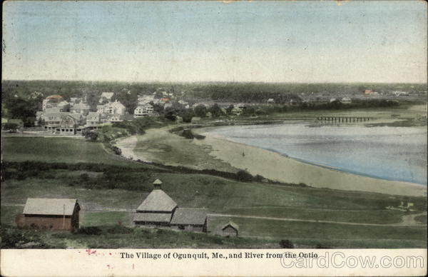 The Village of Ogunquit and River from the Ontio Maine