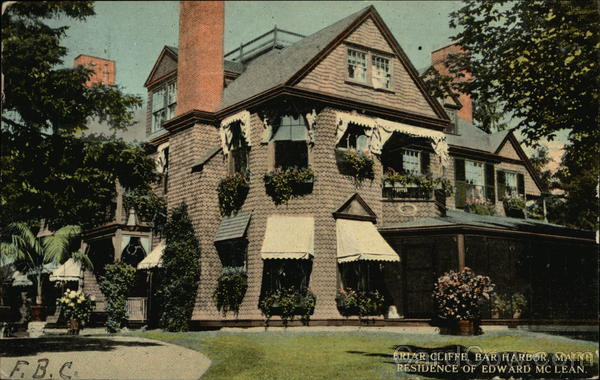 Briar Cliffe - Residence of Edward McLean Bar Harbor Maine