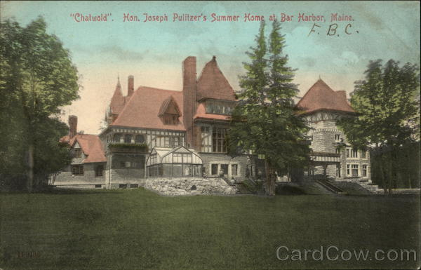 Chatwold - Hon. Joseph Pulitzer's Summer Home Bar Harbor Maine