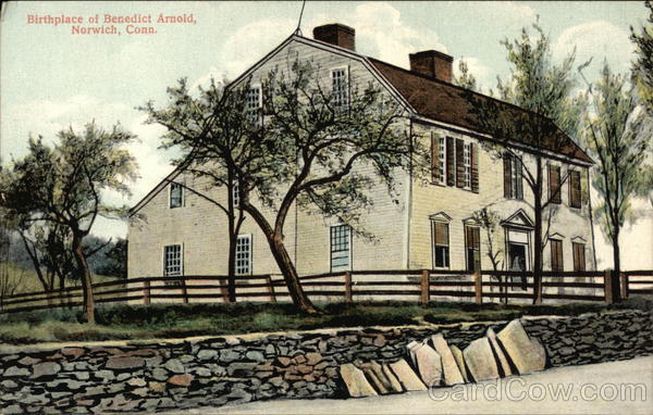 Birthplace of Benedict Arnold Norwich Connecticut