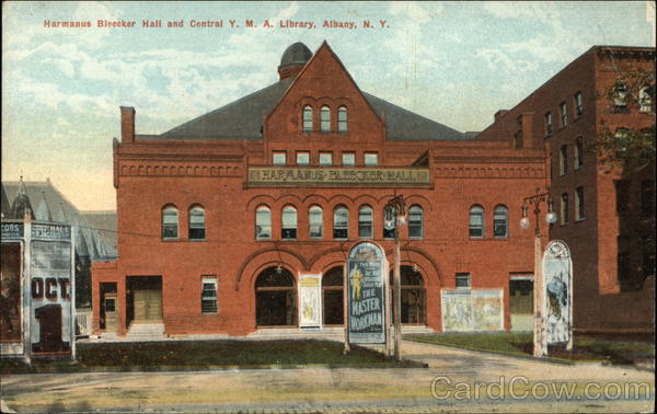 Harmanus Bleecker Hall and Central Y.M.A. Library Albany New York