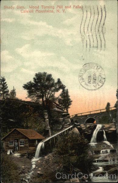 Wood Turning Mill and Falls, Shady Glen Catskills New York