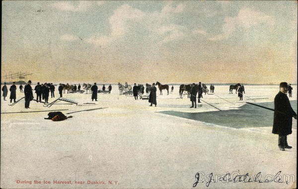 During the Ice Harvest Dunkirk New York