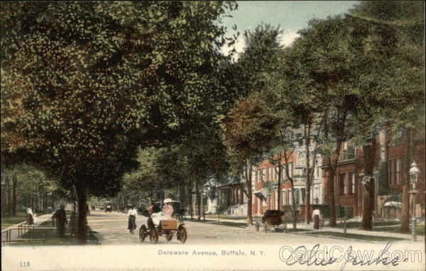View of Delaware Avenue Buffalo New York