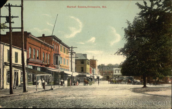 Street View of Market Place Annapolis Maryland