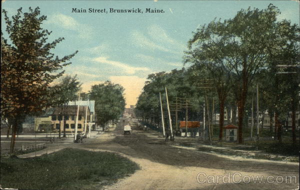 Main Street View Brunswick Maine