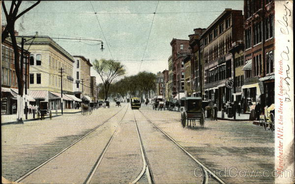 Elm Street Looking North Manchester New Hampshire