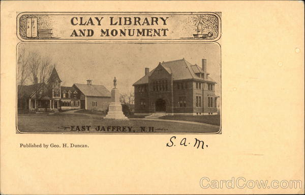 Clay Library and Monument East Jaffrey New Hampshire