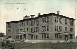 High School and Grounds Tomahawk, WI Postcard