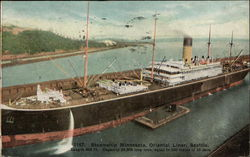 Steamship Minnesota, Oriental Liner - Length 630 ft - Capacity 23,000 long tons