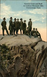 General Grant and Staff on Lookout Mountain 1863