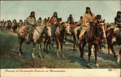 Parade of Comanche Indians at Reservation