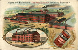 "Home of Rumford ""The Wholesome"" Baking Powder"