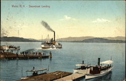 Water View of Steamboat Landing Postcard