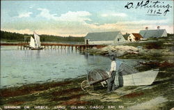 Harbor de Grace, Casco Bay Postcard