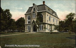 Memorial Hall at Bowdoin College