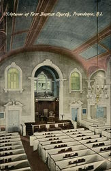 Interior of First Baptist Church