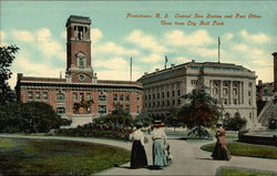 Central Fire Station and Post Office - View from City Hall Park