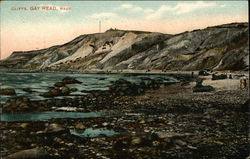 Shoreline View of the Cliffs Postcard
