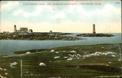 Cuttyhunk Light and Gosnold Monument