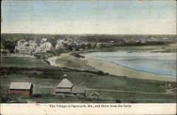 The Village of Ogunquit and River from the Ontio