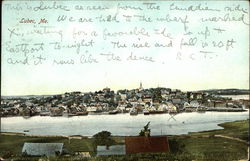 View of Town and Harbor Postcard