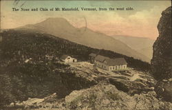 The Nose and Chin of Mt. Mansfield, Vermont, from the west side.