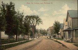 River St., Looking East Postcard
