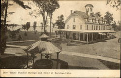 White Sulphur Springs and Hotel at Saratoga Lake