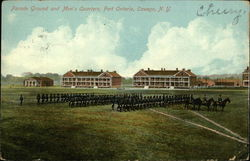 Parade Ground and Men's Quarters at Fort Ontario