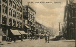Foot of Center Street Postcard
