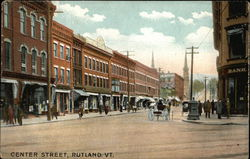 Center Street View Postcard