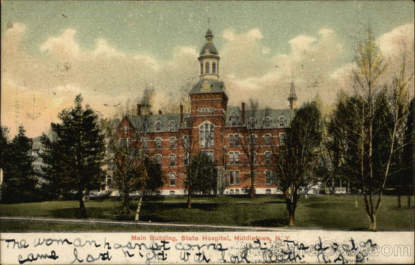 Main Building at State Hospital Middletown New York