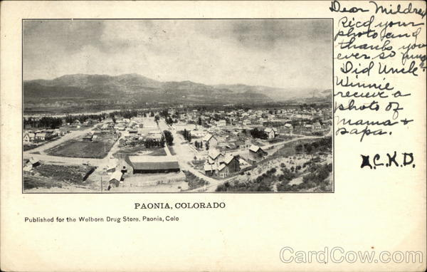 Aerial View of Paonia, Colorado