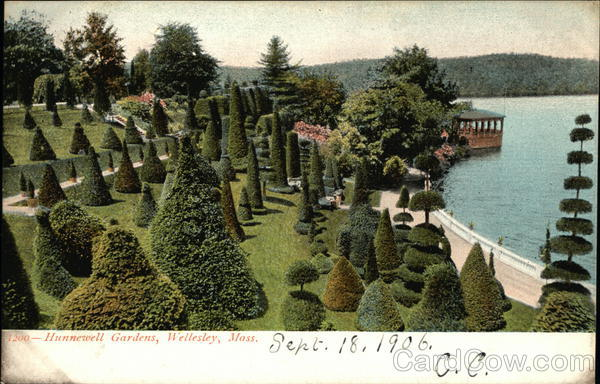 Bird's Eye View of Hunnerwell Gardens Wellesley Massachusetts