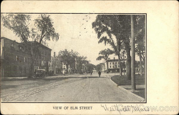 View of Elm Street Westfield Massachusetts