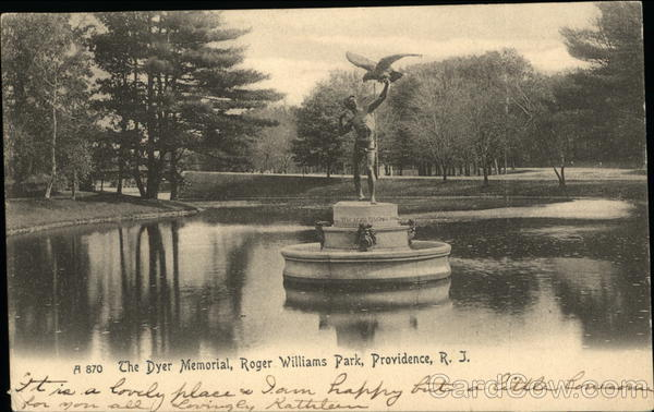 The Dyer Memorial, Roger Williams Park Providence Rhode Island