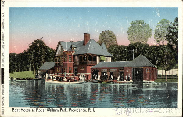 Boat House at Roger William Park Providence Rhode Island