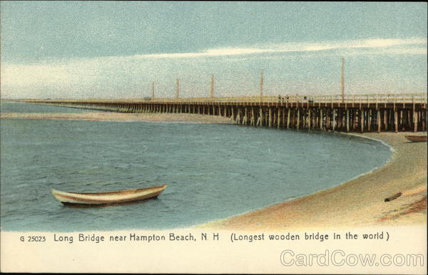 Long Bridge (Longest wooden bridge in the world) Hampton Beach New Hampshire