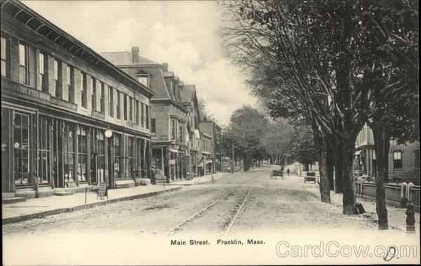 View of Main Street Franklin Massachusetts