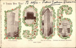 Happy New Year 1906 from New York