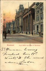 Post Office and Bank of Montreal Postcard