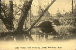Lake Waban Outlet at Wellesley College