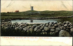 Glimpse of the Old Road and the Wind Mill