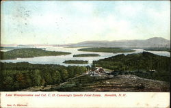 Lake Winnipesaukee and Col. C.H. Cumming's Spindle Point Estate