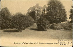 Residence of Lt. Governor E.S. Draper Postcard