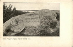 King Philip's Rock, Mount Hope Bay