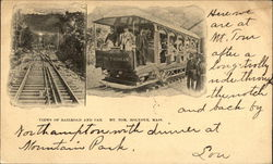 Views of Railroad and Car, Mt. Tom