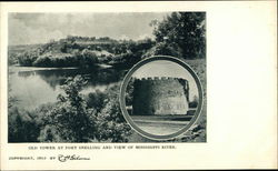 Old Tower at Fort Snelling and View of Mississippi River